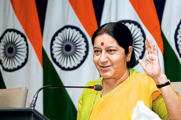 "Leaders across the world have tended to use social media to ""spread the message"" as it were in a top-down fashion, much like government advertisements in newspapers; but Sushma Swaraj, in contrast, engages with her constituency. Photo: Hindustan Times"