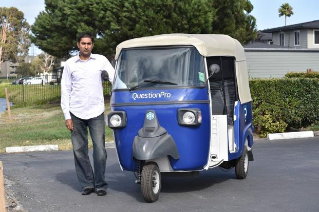 "QuestionPro CEO Vivek Bhaskaran  says, ""I am into motor vehicles anyway and have been especially fascinated with autos."""