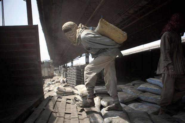 Shares of most cement companies have outperformed the Sensex on a year-on-year and year-to-date basis, and are trading at rich valuations. Photo: Bloomberg