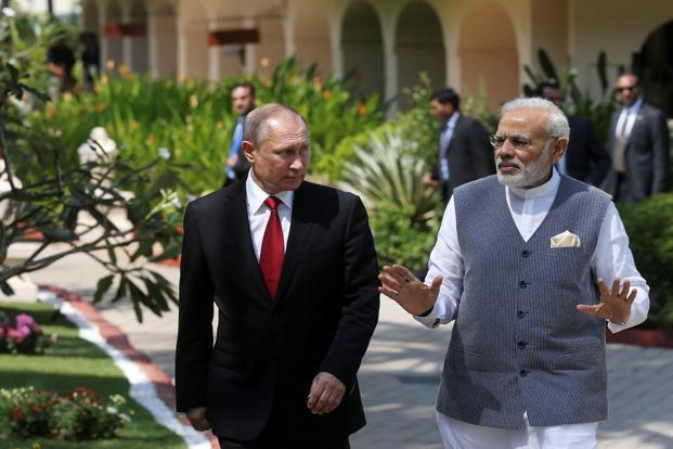 The statement said the governments also signed two other deals in the presence of Prime Minister Narendra Modi and Russian President Vladimir Putin in Goa, where the 17th India-Russia Annual Summit took place on Saturday. Photo: Reuters