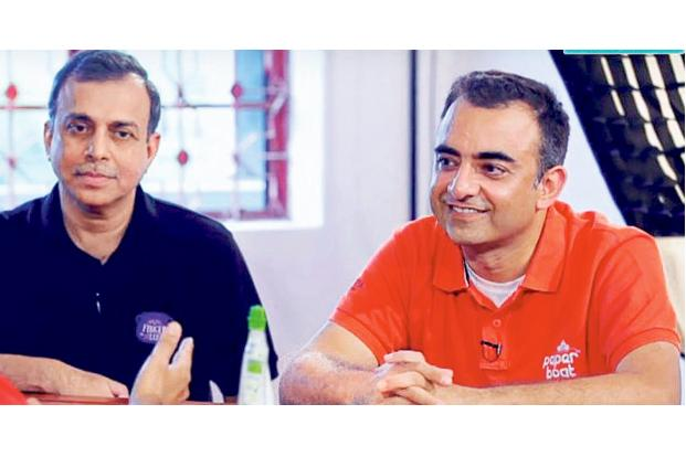 Neeraj Kakkar, co-founder of Paper Boat (right) and Shripad Nadkarni, an investor in the brand.