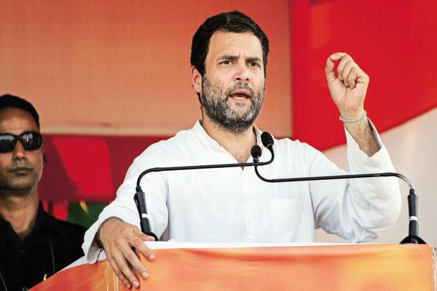 Congress vice-president Rahul Gandhi. The Congress announced it will provide a quota within the quota for the most backward classes (MBCs) in Uttar Pradesh, if elected. Photo: Hindustan Times