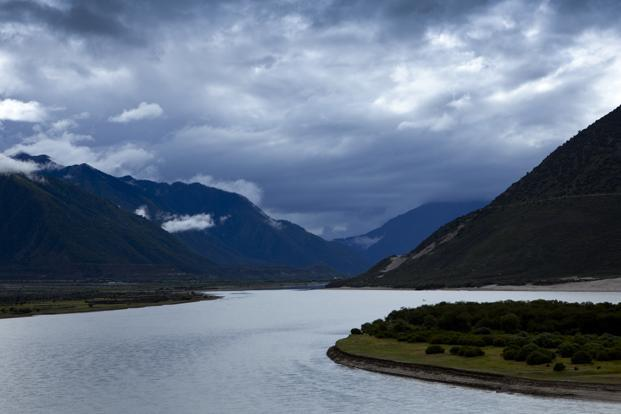 A file photo of the Yarlung Tsangpo river in Nyingchi. The Lalho project has an investment of $4.95 billion and construction is scheduled to be completed by 2019.  Photo: AFP