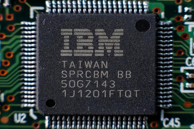Shares of IBM, which reported its 18th straight quarter of declining revenue, were down 3.1% at $150.60 in after-market trading. Photo: Reuters
