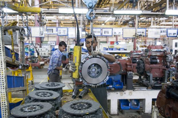 Industrial production data showed a -0.7% contraction in August following a -2.5% decline in July, compared to last year's 4.1% growth in April-August, corresponding industry output is down to -0.3% this year. Photo: Madhu Kapparath/Mint