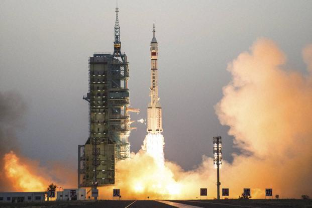 Tiangong 2  space station launched on 15 September is orbiting about 393 kilometers (244 miles) above the earth. Photo: AP