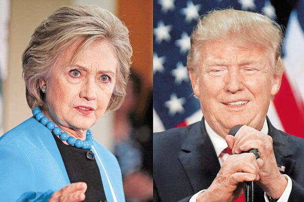 Language researchers use audience focus groups and machine learning to identify thousands of words and phrases with consistently positive or negative connotations used by politicians like Hillary Clinton (left) and Donald Trump. Photo: Reuters