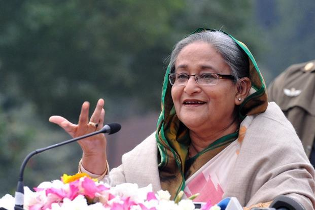 Bangladesh prime minister Sheikh Hasina earlier denounced protests against the proposed coal-fired power plant. Photo: AFP