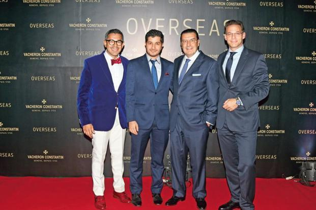 Vacheron Constantin CEO Juan Carlos Torres (second, right) at the launch of the new Overseas collection in Mumbai on 8 October.