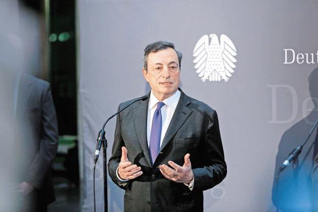 ECB chief Mario Draghi. The European Central Bank on Thursday left its ultra-loose monetary policy unchanged but kept the door open to more stimulus in December. Photo: Bloomberg
