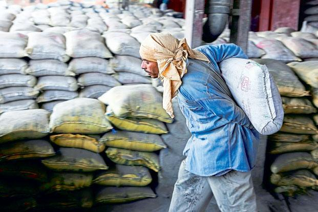 Cement sales volume at ACC for the September quarter fell 9.6% year-on-year  to 5.07 million tonnes, touching its lowest level since the December 2014 quarter, leading to a decline in consolidated revenue, which stood at Rs2,521 crore in the quarter. Photo: Bloomberg