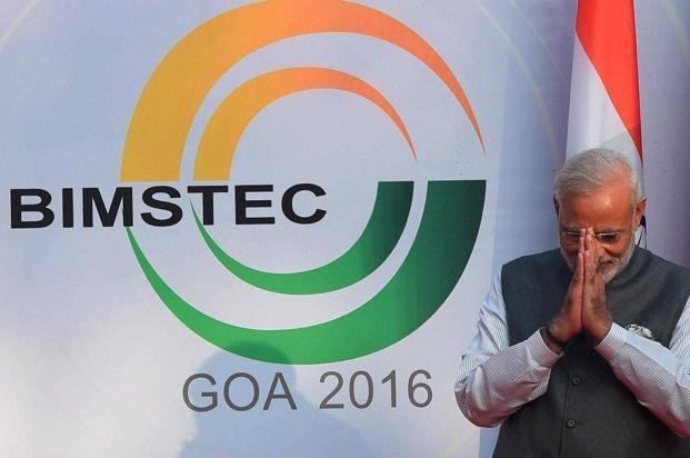 A file photo of Prime Minister Narendra Modi at the opening ceremony of the Bimstec Summit in Mobor, Goa. Photo: PTI