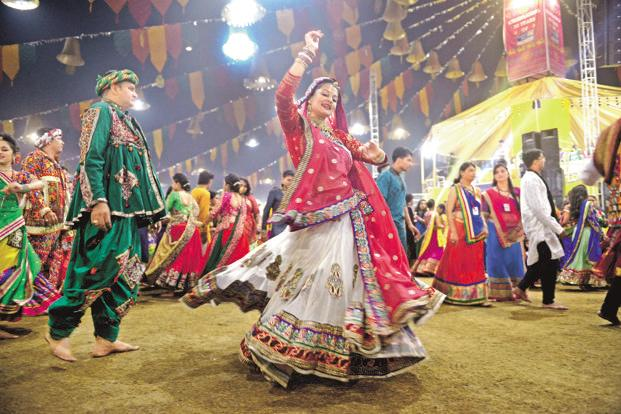 Navratri festivities are not confined to western India anymore. Photo: Abhijit Bhatlekar/Mint