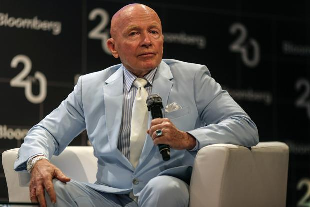 Mark Mobius, chairman of Templeton Emerging Markets Group, during a Bloomberg 20 India event in Mumbai on Friday. Photo: Bloomberg