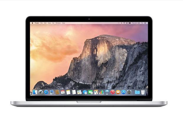 Driven by 2.7GHz Intel Core i5 processor with 8GB RAM and 128GB SSD, Apple Macbook Pro MF839HN/A comes with a 13.3-inch Retina display with resolution of 2,560x1,440p