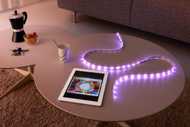 LIFX Z is a custom-controlled LED strip which can change up to eight colours