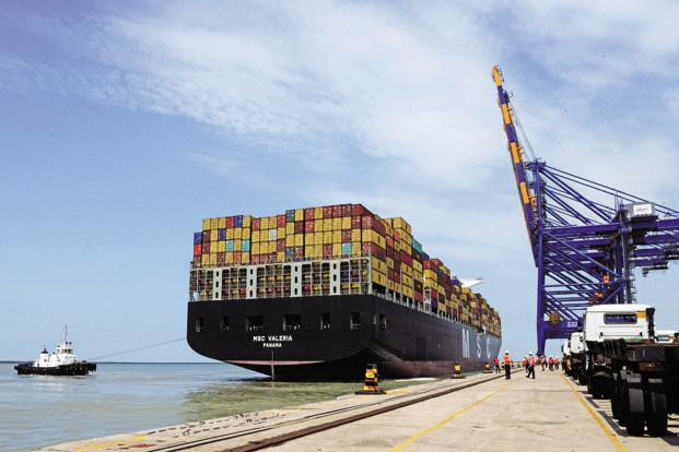 Adani Ports's consolidated cargo volumes increased by 17% to 43MT in the September quarter compared the same quarter in 2015-16, while container volumes rose by 30% year-on-year. Photo: AFP
