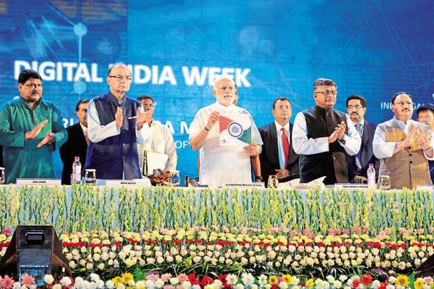 Prime Minister Narendra Modi releasing the Digital India Book in New Delhi on 1 July 2015. Photo: PIB