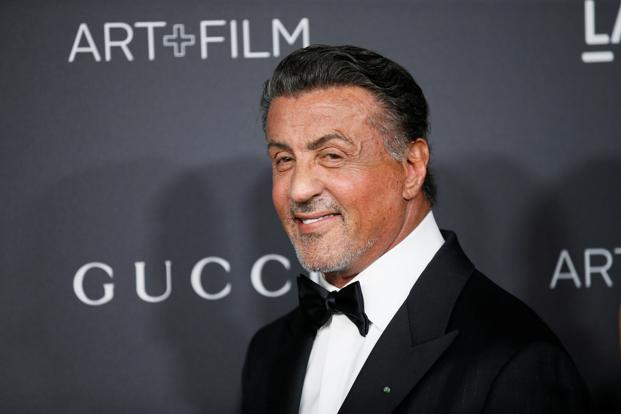 A file photo of Hollywood superstar Sylvester Stallone, who played himself in the Akshay Kumar-starrer comedy, 'Kambakkht Ishq'.  Photo: Reuters
