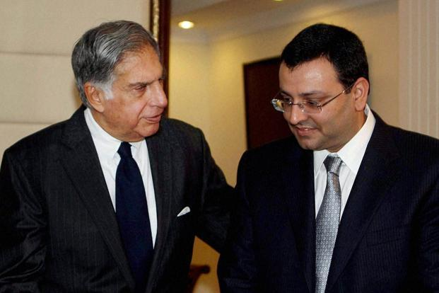 Ratan Tata and Cyrus Mistry. Photo: PTI