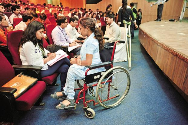 12% of the differently-abled population in the age group of 5-19 years who were earlier attending educational institutions dropped out in 2011. Photo: Pradeep Gaur/Mint