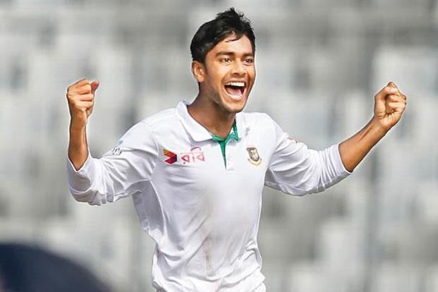 Mehedi Hasan Miraz took 19 wickets in the series. Photo: AM Ahad/AP