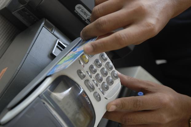 In April 2011, less than 3% of all debit card transactions (by value) was at a point of sale, while in August 2016, this figure had gone to nearly 8%. Photo: Hemant Mishra/Mint