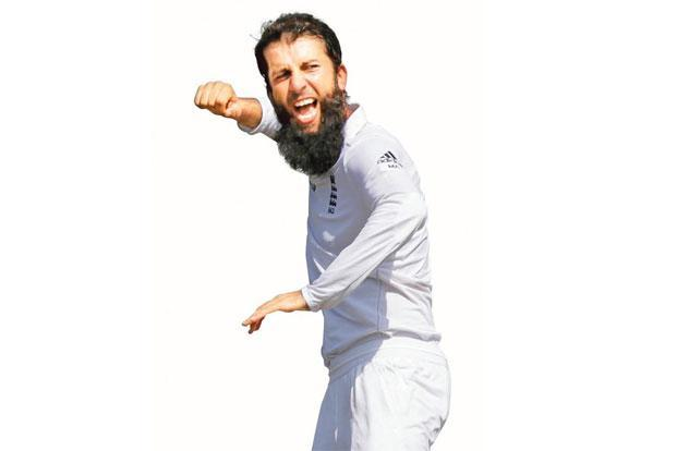 Moeen Ali got 11 wickets in the Test series against Bangladesh. Photo: AM Ahad/AP