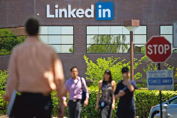 LinkedIn was recently agreed to be acquired for $26 billion by Microsoft. Photo:Bloomberg