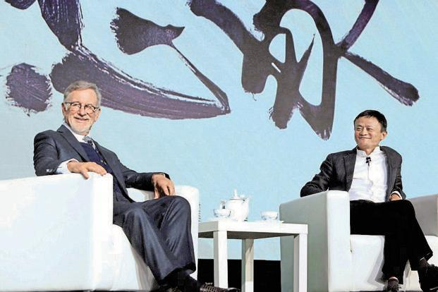 Steven Spielberg and Jack Ma. Photo: Reuters