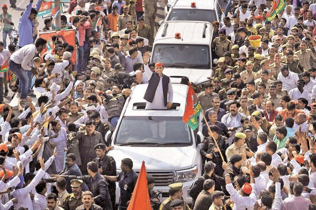 Akhilesh in a rally.