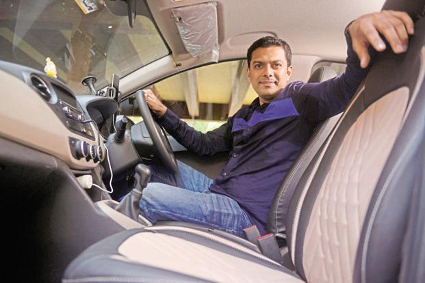 Ankit Mehta, who runs a solar panel firm, also owns 27 cars that work with both Uber and Ola.