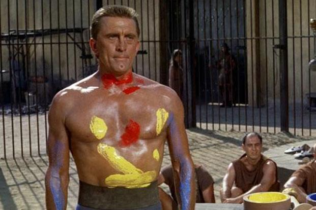 Kirk Douglas in a still from 'Spartacus'