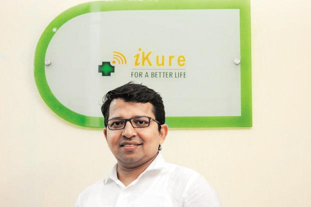 Healthcare start-up iKure Techsoft founder and CEO Sujay Santra. Photo: Indranil Bhoumik/Mint