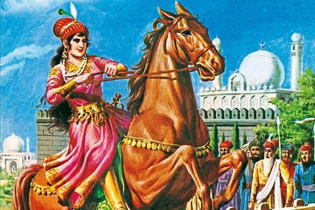 Raziya, the only woman to have occupied Delhi's throne in the Slave Dynasty.