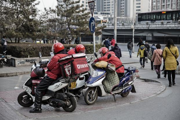 Baidu's takeout delivery business became a separate entity at the end of 2015 and a funding round earlier this year valued the business at $2.5 billion. Photo: Bloomberg