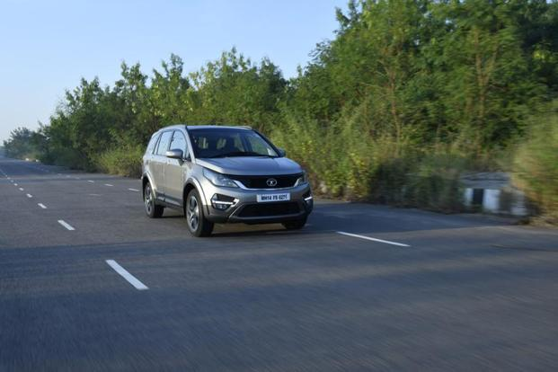 Tata has given the Hexa an aggressive design.