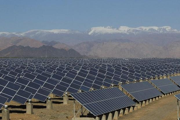 China earlier expected to have 150 gigawatts of solar power and 250 gigawatts of wind by 2020. Photo: AFP