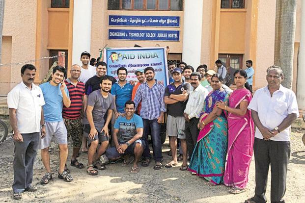 A file photo of Dell employees who volunteered with one of its not-for profit partner AID India Foundation in Cuddalore, Tamil Nadu, to provide flood relief.