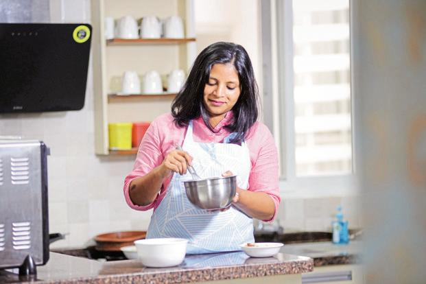 Tresa Francis worked in a legal firm for over a decade before quitting last year to become a home chef. Photo: Hemant Mishra/Mint