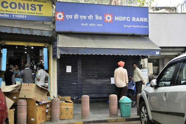 Even as bank branches will remain open, it is still not clear whether post offices would be operational or not on the weekend. Photo: Abhijit Ahaskar/Mint