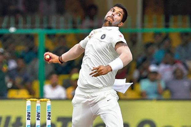 The 29-year-old had taken 60 career Test wickets before the Rajkot Test. Photo: Ajay Aggarwal/HindustanTimes