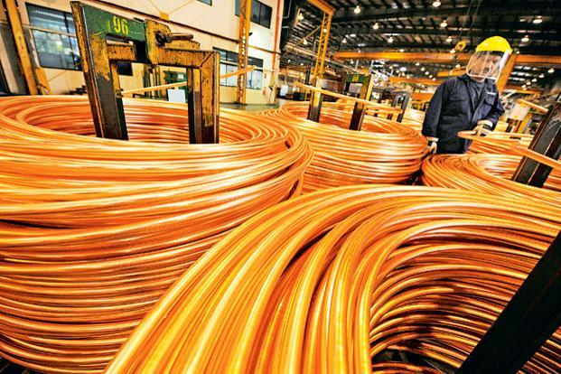 Copper prices on the London Metal Exchange rose by 3.5%.  Photo: Bloomberg