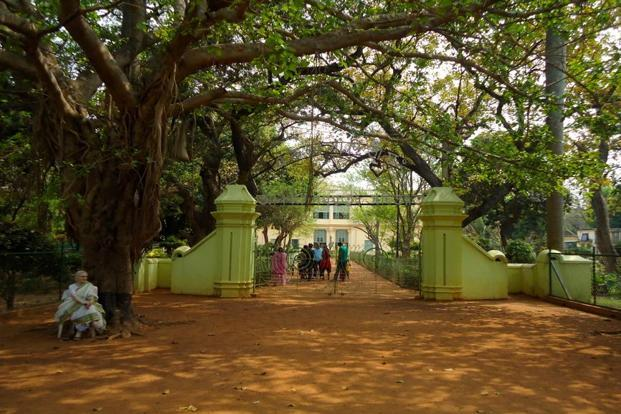 The entrance to Tagore's ashram in Santiniketan. Photo: Amrita Das