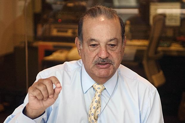 10 Mexican billionaires, including Carlos Slim, dropped a combined $6.5 billion in early trading after Donald Trump's election as president of the US. Photo: Bloomberg