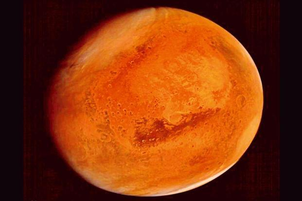 A photo from Mangalyaan. Photo: PTI