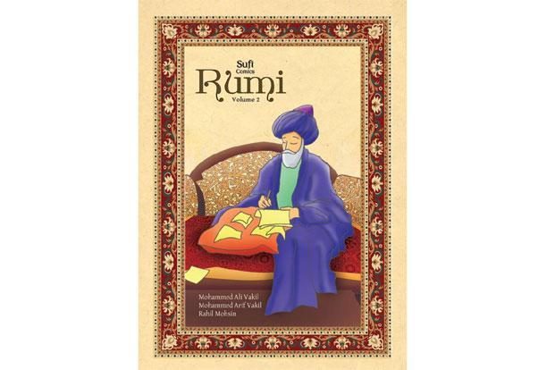 Rumi-Volume 2, a collection of twelve of Rumi's poems in graphic form, will be released at the Alto Bengaluru Comic Con