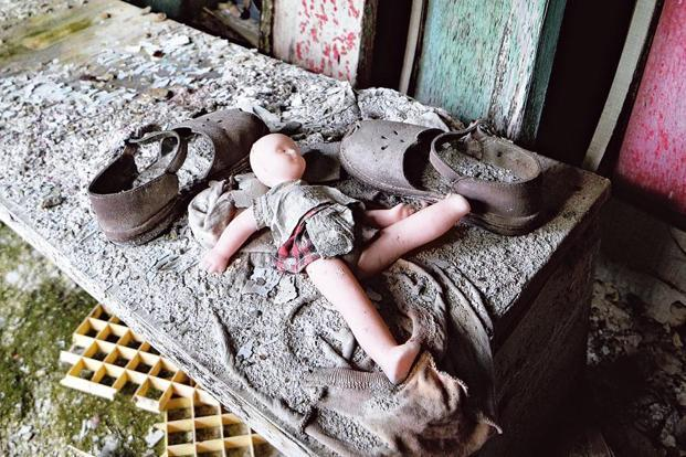 A nursery school in the ghost town of Pripyat, near the Chernobyl nuclear plant. Photo: AFP