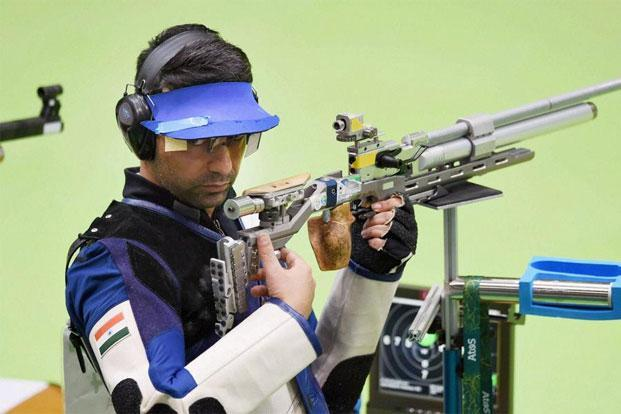 Abhinav Bindra during the 2016 Olympic Games in Rio de Janeiro. Bindra finished an agonizing fourth in his last competition—the 10m Air Rifle final. Photo: PTI