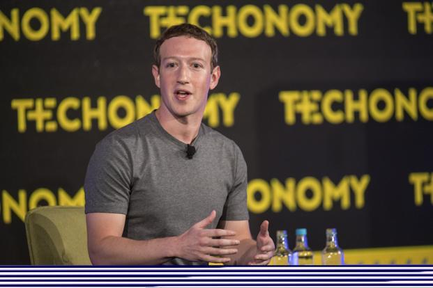 Facebook CEO Mark Zuckerberg speaks during a session at the Techonomy 2016 conference in Half Moon Bay, California, on Thursday. Photo: Bloomberg